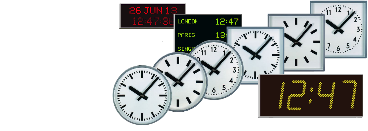 Analogue and digital clocks
